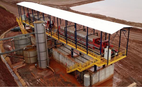 Planta de desidratação de rejeitos de minério de ferro a 30 km de Belo Horizonte.